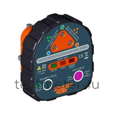 Socket & See SOK36 Earth / RCD Socket Tester • 51.54£