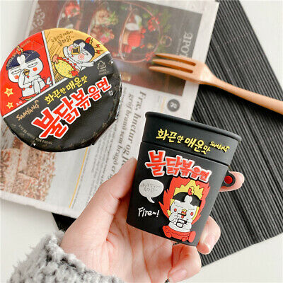 $ CDN11.55 • Buy Airpods Silicone Case Korean Spicy Noodle Design Protect Cover For Apple Airpods