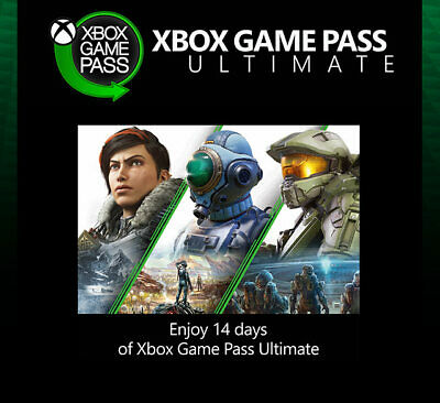 $3.40 • Buy Xbox Game Pass Ultimate 14 Days - XBOX Live Gold + Game Pass - Instant Code