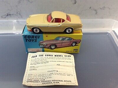 Corgi Toys 228 Volvo P1800 All Original In Near Mint Condition • 125£