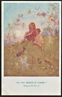 DO YOU BELIEVE IN FAIRIES Margaret Tarrant Postcard • 4.95£