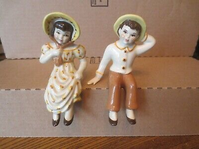 $27.99 • Buy Vtg Ceramic Arts Studio JACK & JILL Shelf Sitters Figurines