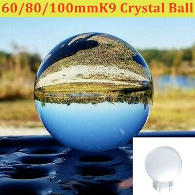 £15.43 • Buy 100mm Crystal Ball Lens Photography Clear Glass Healing Sphere Photo Prop Decor