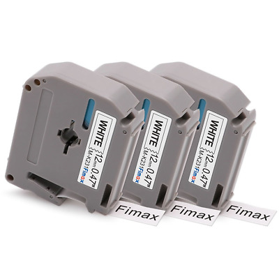 $11.05 • Buy Fimax Compatible Label Tape Replacement For Brother M231 MK231 MK-231 M-K231s To
