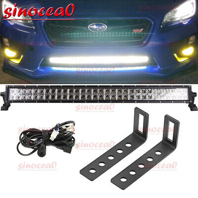 $84.99 • Buy 2015-2019 Subaru WRX STI Lower Bumper Grille 32  Light Bar W/ Brackets Wire Kit