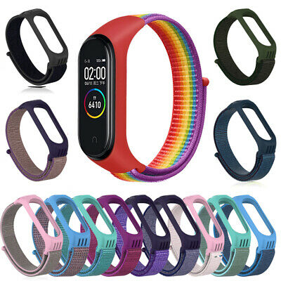 $5.69 • Buy Sports Cover Strap Wristband Case Replaceable Nylon Loop For Xiaomi Mi Band 3 4