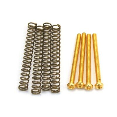 £7.99 • Buy Allparts Humbucker Pickup Mounting Screws Gold And Springs 4-Pack USA Thread