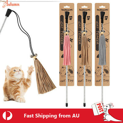 AU8.49 • Buy Cat Play Toy Finsel Teaser Fairy Wand Interactive Stick Kitten Pet Fun