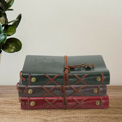 £5.09 • Buy  Leather Notebook Journal Handmade Vintage Leather Travel Rustic PU Notepad Gift