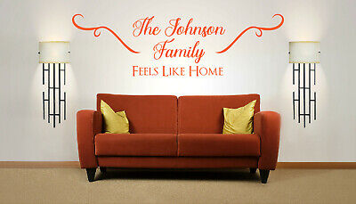 £13.99 • Buy Personalised Family Name 'Feels Like Home', Wall Art Sticker, Mural, Decal.