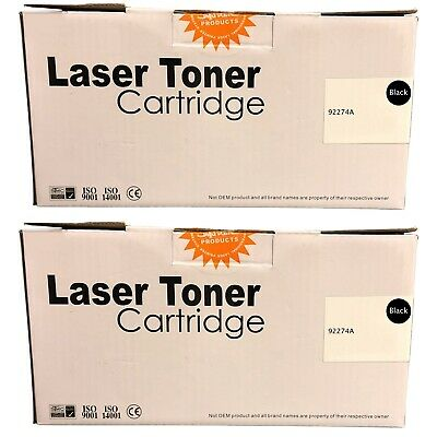 Compatible 74A Black Twin Pack Toner Cartridges 92274A For HP LaserJet 4L • 51.80£