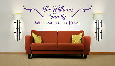 £22.99 • Buy Personalised Family Name 'Welcome To Our Home', Wall Art Sticker, Mural, Decal.