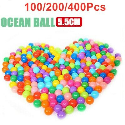 1-400 Ball Pit Balls Play Kids Plastic Baby Ocean Soft Toy Colourful Playpen Fun • 9.19£