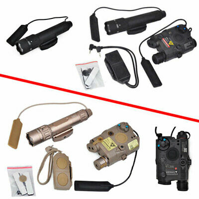 LA-PEQ15 Red Laser + WMX-200 Illuminator Flashlight + 2 Plug Switch Hunting • 121.39£