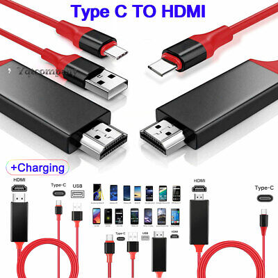 $10.99 • Buy HDMI Type C Cable Phone To TV HDTV Adapter Fr Samsung S8 S9 S10 S21 Note20 Ultra