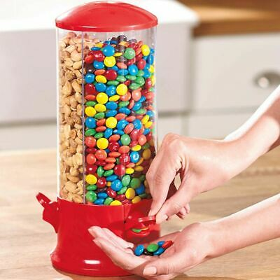 Candy Machine Triple Dispenser Sweets 3 Compartment Bubble Gum Snacks Storage • 9.95£