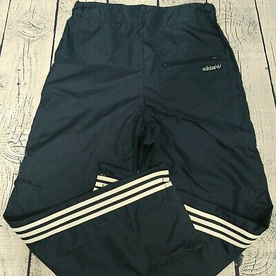 $ CDN25 • Buy Vintage 70s Adidas Nylon Track Pants Mens Size M Blue White Windbreaker Pants