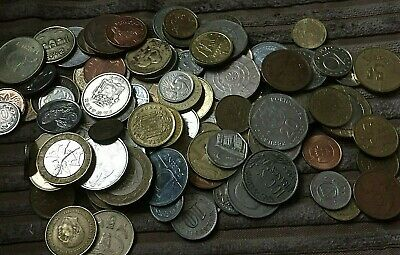 Bulk Collection Of 100 Foreign/oddment Coins/ • 3.20£
