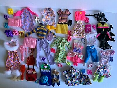 $ CDN51.24 • Buy Huge Vintage Real Barbie Clothes And Accessory Lot 80's  90's Lots Of SHOES