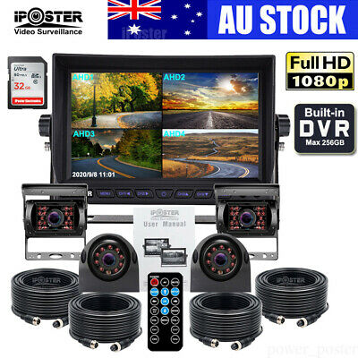 AU329.99 • Buy 9  DVR Quad Monitor+4 X4CH Recording AHD CCD Reversing Side Camera For Truck Bus