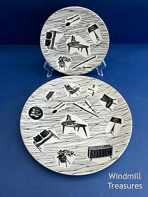 VINTAGE RIDGWAY HOMEMAKER DINNER PLATE And TEA PLATE - GOOD CONDITION • 12.99£