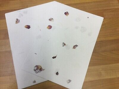 £4.99 • Buy 40 Sheets Of Handmade  Rose Petal Cotton Paper A4