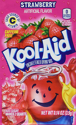 Kool-Aid Strawberry Unsweetened Soft Drink Mix, 0.14-Ounce Envelopes Pack Of 48 • 16.96£
