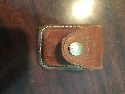 $8 • Buy Zippo Lighter Pouch Case Holder Brown Leather Clip For Belt