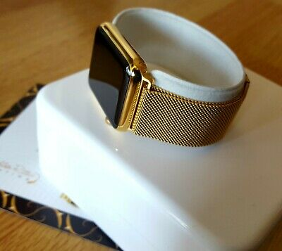 $ CDN398.14 • Buy 24k Gold Plated Apple Watch Series 1 Smart Watch Fully Boxed Milanese Wristband