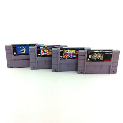 $ CDN53.13 • Buy Lot 4 Super Nintendo SNES Video Games Super Mario World Ren & Stimpy Veediots