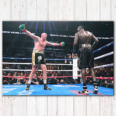 TYSON FURY Vs Deontay Wilder Boxing | Canvas Print Wall Art Photo | 5 Sizes • 23.97£
