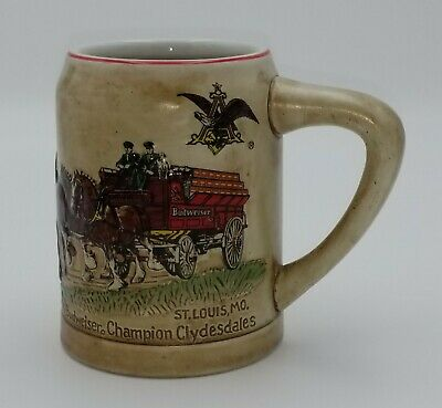 $ CDN98 • Buy Vintage 1980 Budweiser Champion Clydesdales CS19 First Holiday Stein
