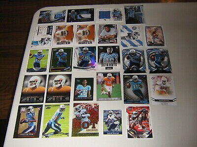 $24.99 • Buy Justin Hunter 27 Card Patch Rookie Insert SP Lot Tennessee Titans Volunteers /25