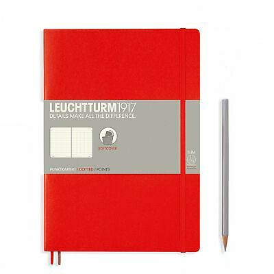 AU29.95 • Buy Leuchtturm1917 Notebook B5 Softcover Composition Dotted - Red