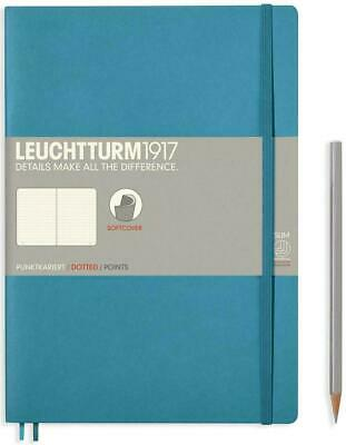 AU29.95 • Buy Leuchtturm1917 Notebook B5 Softcover Composition Dotted - Nortic Blue