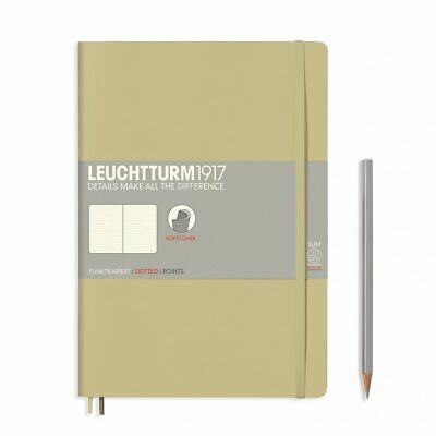 AU29.95 • Buy Leuchtturm1917 Notebook B5 Softcover Composition Dotted - Sand