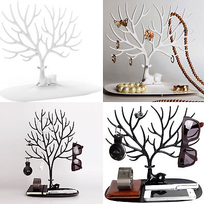 £5.59 • Buy Jewelry Tree Stand Display Organizer Ring Earring Necklace Holder Show Rack UK