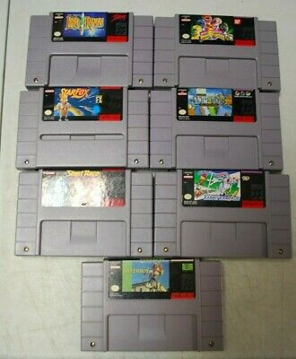 $ CDN119.99 • Buy Lot Of 7 Super Nes Games. Star Fox, Stunt Race, Power Rangers, Lord Rings, More.