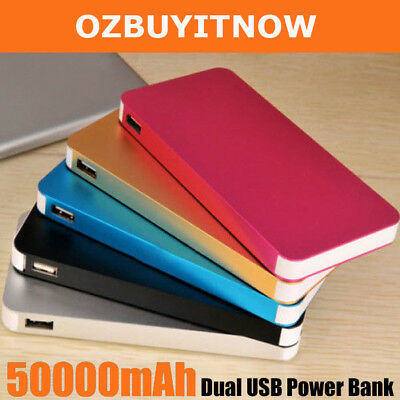 AU15.40 • Buy 50000mAh External Power Bank Dual USB Portable Battery Charger For Mobile Phone