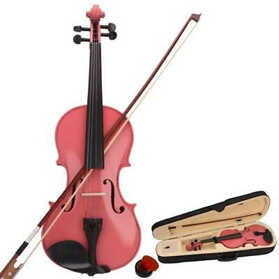 $25.90 • Buy 4/4 Full Size Acoustic Violin Set W/Case Bow Rosin Fit Basswood Pink