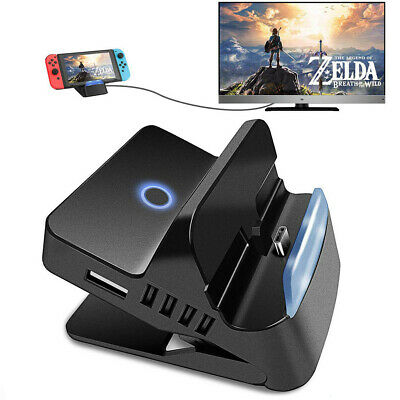 $25.99 • Buy Portable Dock TV Converter HDMI Charger Base Station For Nintendo Switch USB Por