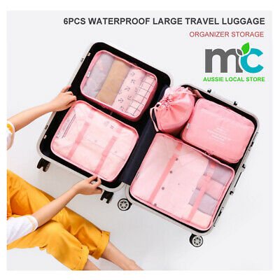 AU14.99 • Buy 6Pcs Waterproof Compression Packing Cubes Large Travel Luggage Organizer Storage