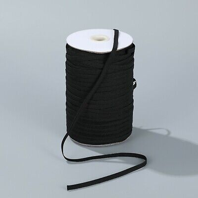 "$ CDN39.89 • Buy 180 Yards Elastic 1/4"" 6 Mm Black For Headband Clothing Wholesale Bulk Roll B180"