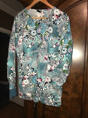 $13 • Buy BARCO UNIFORMS- Women's Long Sleeve Scrub Jacket, Size Large, Preowned