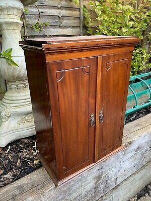 Antique Victorian Collectors Cabinet Chest Mahogany 19th Century • 225£