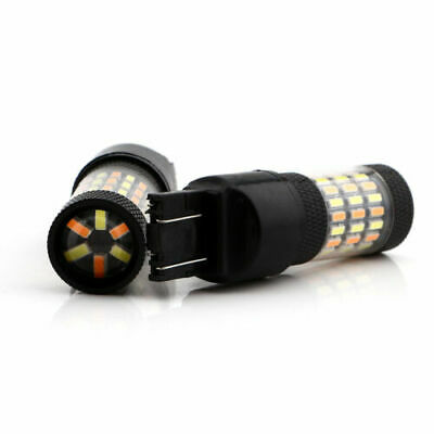 $14.99 • Buy LED 7443 Strobe Blinking Flashing Brake Light Tail Lights Switchback Turn Signal