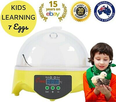 AU69 • Buy MINI 7 Egg Incubator Chicken Digital Automatic LED Science Kids Home Experiment