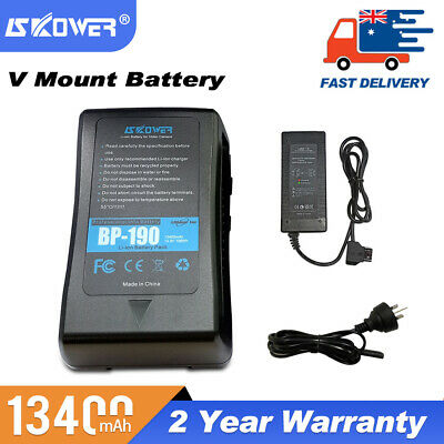 AU265 • Buy SKOWER BP190 V-Mount V-Lock V-Shape Rechargeable Li-ion Battery(198Wh) + Charger