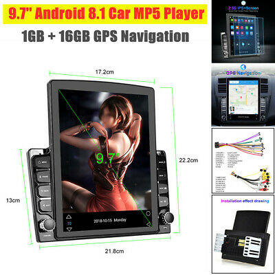 $199.99 • Buy 9.7'' Vertical Screen HD 2.5D Car MP5 Player Android 8.1 GPS Navigation 1GB+16GB