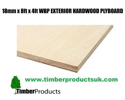18mm X 2440mm X 1220mm (8ft X 4ft) WBP  Exterior Red Faced Plywood Ply • 38.87£